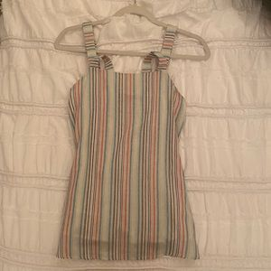 Cutest rainbow striped summer tank top!!
